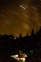 Upper Falls Campsite & Star Trails, Clear Creek Ranch, French Gulch, California, US