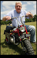 BNPS.co.uk (01202 558833)<br /> Pic: SallyAdams/BNPS<br /> <br /> John Harington with the Honda bike.<br /> <br /> A motorcycle that was owned by John Lennon in the sixties has emerged for sale and is being tipped to sell for over &pound;30,000.