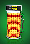 Illustrative image of corn fuel pump representing go green concept
