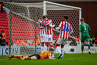 7th March 2020; Bet365 Stadium, Stoke, Staffordshire, England; English Championship Football, Stoke City versus Hull City; Nick Powell of Stoke City celebrates scoring a goal to seal the match 5-1