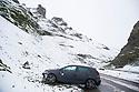 22/01/19<br /> <br /> Crashed car on Winnats Pass near Castleton in the Derbyshire Peak District.<br /> <br /> All Rights Reserved, F Stop Press Ltd +44 (0)7765 242650  www.fstoppress.com rod@fstoppress.com