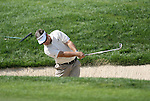 6 September 2008:    Kenny Perry hits out of a bunker on the first hole in the second round of play at the BMW Golf Championship at Bellerive Country Club in Town & Country, Missouri, a suburb of St. Louis, Missouri.  The BMW Championship is the third event on the PGA's Fed Ex Tour. Camillo Villegas, of Medellin Colombia (South America) was the leader after the conclusion of round one with a five-under par score.