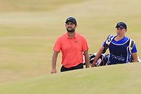 Alexander Levy (FRA) at the 15th green during Friday's Round 2 of the 2018 Dubai Duty Free Irish Open, held at Ballyliffin Golf Club, Ireland. 6th July 2018.<br /> Picture: Eoin Clarke | Golffile<br /> <br /> <br /> All photos usage must carry mandatory copyright credit (&copy; Golffile | Eoin Clarke)