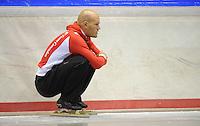 SCHAATSEN: HEERENVEEN: 18-06-2014, IJsstadion Thialf, Zomerijs training, Team Corendon, ass. trainer Jurre Trouw, ©foto Martin de Jong
