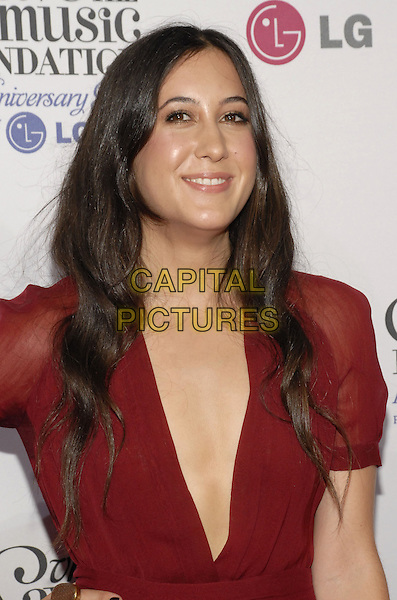 VANESSA CARLTON.VH1 Save the Music Foundation celebrates its first decade of success with a 10th anniversary gala presented by LG Mobile Phones at Lincoln Center, New York, New York, USA..September 20th, 2007.half length red plunging neckline .CAP/ADM/BL.©Bill Lyons/AdMedia/Capital Pictures. *** Local Caption ***