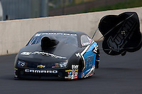 Jul. 19, 2014; Morrison, CO, USA; NHRA pro stock driver Jonathan Gray during qualifying for the Mile High Nationals at Bandimere Speedway. Mandatory Credit: Mark J. Rebilas-