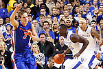 UK forward Julius Randle running the ball after a rebound during the first half of the UK basketball game vs. Boise State on Tuesday, December 10, 2013, in Lexington, Ky. Photo by Kalyn Bradford | Staff