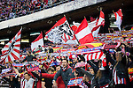 Atletico de Madrid's supporters during La Liga Match at Vicente Calderon Stadium in Madrid. May 14, 2016. (ALTERPHOTOS/BorjaB.Hojas)