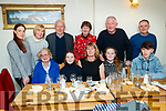 Ronan Moore, Niamh Lynch and Caroline Lynch, Kilflynn and Tralee, who celebrated their birthday on the treble at Bella Bia restaurant, Tralee on Friday night last, front  l-r: Theresa Power, Ella Moore, Catherine Moore, Mary Moore and Ronan Moore. Back l-r: Niamh Lynch, Jean Young, James Power, Caroline Lynch, Dermot Moore and Frankie Lynch.