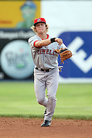 July 10th 2008:  Second Baseman Zach Gentile of the Lowell Spinners, Class-A affiliate of the Boston Red Sox, during a game at Dwyer Stadium in Batavia, NY.  Photo by:  Mike Janes/Four Seam Images