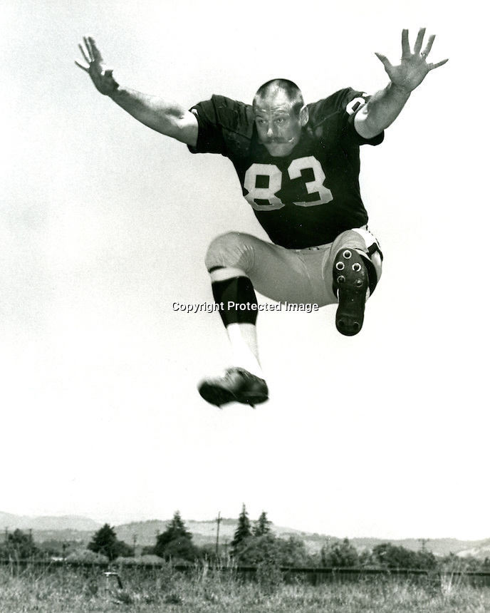 Oakland Raiders defensive end Ben Davidson..(1968 photo/ Ron Riesterer)
