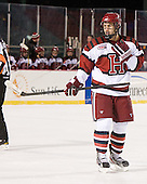 Danny Biega (Harvard - 9) - The Union College Dutchmen defeated the Harvard University Crimson 2-0 on Friday, January 13, 2011, at Fenway Park in Boston, Massachusetts.