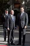 Prince Felipe of Spain attends the Spanish Architects Superior Board Awards ceremony at Senate Palace in Madrid, Spain. December 03, 2013. (ALTERPHOTOS/Victor Blanco)