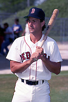 Boston Red Sox Danny Heep during spring training circa 1990 at Chain of Lakes Park in Winter Haven, Florida.  (MJA/Four Seam Images)