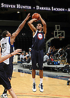 Michael Gbinije at the NBPA Top100 camp June 17, 2010 at the John Paul Jones Arena in Charlottesville, VA. Visit www.nbpatop100.blogspot.com for more photos. (Photo © Andrew Shurtleff)