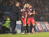 Blackburn Rovers manager Tony Mowbray has pitch side talks with Blackburn Rovers' Elliott Bennett<br /> <br /> Photographer Rachel Holborn/CameraSport<br /> <br /> The EFL Sky Bet League One - Gillingham v Blackburn Rovers - Tuesday 10th April 2018 - Priestfield Stadium - Gillingham<br /> <br /> World Copyright &copy; 2018 CameraSport. All rights reserved. 43 Linden Ave. Countesthorpe. Leicester. England. LE8 5PG - Tel: +44 (0) 116 277 4147 - admin@camerasport.com - www.camerasport.com