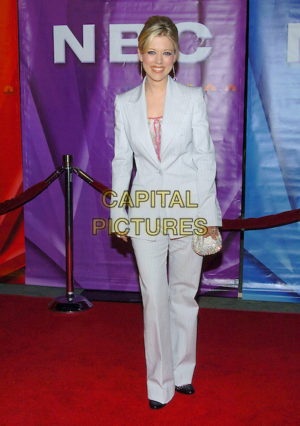 TAMMY LYN MICHAELS.2005 NBC Winter TCA All-Star Party held at the Hard Rock Cafe, Universal City, California, USA, .21 January 2005..full length grey blue trouser  suit.Ref: ADM.www.capitalpictures.com.sales@capitalpictures.com.©JWong/AdMedia/Capital Pictures .