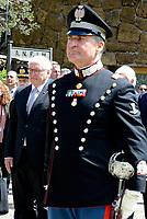 Roma, 3 Maggio 2017<br /> Il Presidente della Germania Frank-Walter Steinmeier rende omaggio alle vittime del massacro nazista alle Fosse Ardeatine