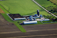 aerial photograph cattle ranch near Iowa City, Iowa