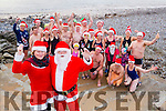 Santa and Mrs Claus launch the 64th Annual Tralee Bay Swimming club Christmas Day Swim in aid of Fenit Lifeboats .