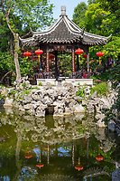 Yangzhou, Jiangsu, China.  Pavilion in the Ge Gardens.