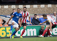 Kayden Jackson of Ipswich Town holds off the visitors defence during Ipswich Town vs Sunderland AFC, Sky Bet EFL League 1 Football at Portman Road on 10th August 2019