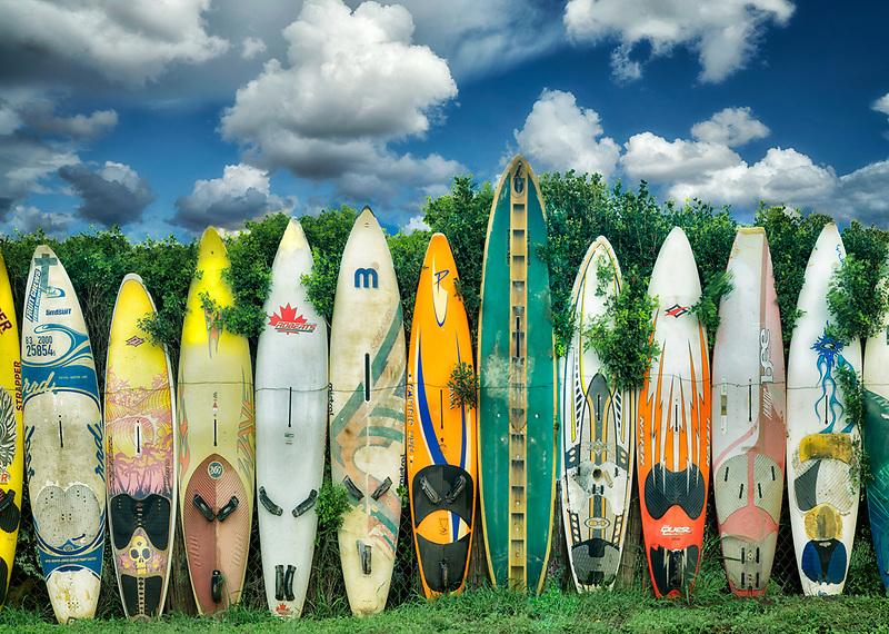 Surfboard fence in Maui, Hawaii.
