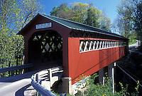 covered bridge, Vermont, VT, Arlington, Chiselville Covered Bridge, ca. 1870, in Arlington in the spring.