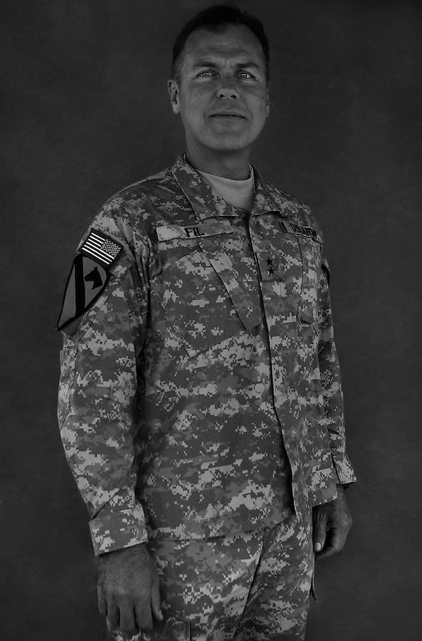 Major General Joseph F. Fil, Jr., 54. Portola Valley, CA. Commanding General, 1st Cavalry Division. Taken at Camp Liberty, Baghdad on Friday May 25, 2007.