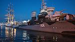 Gdynia, (woj. pomorskie) 16.08.2014. ORP Błyskawica - okręt muzeum zakotwiczony przy Nabrzeżu Pomorskim w Gdyni.
