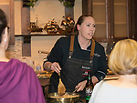 Chef Nicholle Alumbaugh from Homage during the Reno Bites Chef Showdown at Czyz's Appliance's gourmet kitchens in Reno, October 14, 2017.