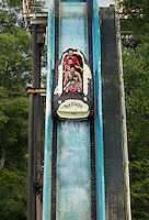 Saw Mill Log Flume, Great Adventure, Six Flags, New Jersey, USA