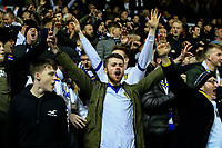 Leeds United fans sing as their team takes the field<br /> <br /> Photographer Alex Dodd/CameraSport<br /> <br /> The EFL Sky Bet Championship -  Leeds United v Derby County - Friday 11th January 2019 - Elland Road - Leeds<br /> <br /> World Copyright &copy; 2019 CameraSport. All rights reserved. 43 Linden Ave. Countesthorpe. Leicester. England. LE8 5PG - Tel: +44 (0) 116 277 4147 - admin@camerasport.com - www.camerasport.com