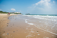 View of North Beach, Tenby, Pembrokeshire, Wales, UK