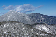 Mount Carrigain from Hancock Loop Trail in the White Mountains, New Hampshire USA during the winter months.