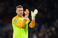 AFC Bournemouth keeper Artur Boruc applauds the home fans at the end of the match during AFC Bournemouth vs Norwich City, Caraboa Cup Football at the Vitality Stadium on 30th October 2018