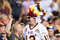 Landover, MD - August 16, 2018: Washington Redskins fans celebrate a field goal during preseason game between the New York Jets and Washington Redskins at FedEx Field in Landover, MD. (Photo by Phillip Peters/Media Images International)