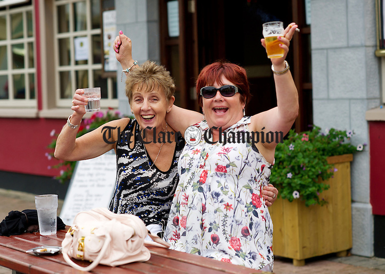 Margaret Keohane and Margaret Jones having fun at the Lisdoonvarna Matchmaking Festival. Photograph by John Kelly.
