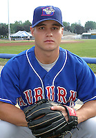 July 4, 2003:  Pitcher Mark Sopko of the Auburn Doubledays, Class-A affiliate of the Toronto Blue Jays, during a game at Dwyer Stadium in Batavia, NY.  Photo by:  Mike Janes/Four Seam Images