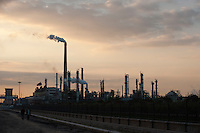 Daytime landscape view of a Petroleum Refinement Facility in Binhai, China.  © LAN