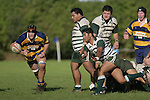 M. Niha sends the ball out to the backline. Counties Manukau Premier Club Rugby, Patumahoe vs Manurewa played at Patumahoe on Saturday 6th May 2006. Patumahoe won 20 - 5.