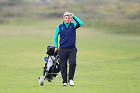 James Sugrue from Ireland on the 7th fairway during Round 3 Foursomes of the Men's Home Internationals 2018 at Conwy Golf Club, Conwy, Wales on Friday 14th September 2018.<br /> Picture: Thos Caffrey / Golffile<br /> <br /> All photo usage must carry mandatory copyright credit (&copy; Golffile | Thos Caffrey)