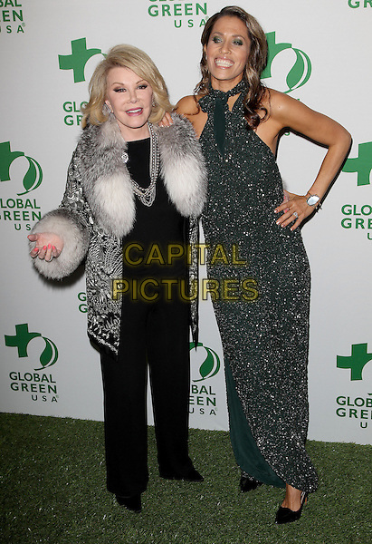 26 February 2014 - Hollywood, California - Joan Rivers, Rainbeau Mars. Global Green USA's 11th Annual Pre-Oscar Party held at Avalon.  <br /> CAP/ADM/FS<br /> &copy;Faye Sadou/AdMedia/Capital Pictures