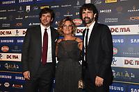 Demetrio Albertini-Laura Ronchi-Damiano Tommasi<br /> Milano 3-12-2018 Gran Gala Calcio AIC Associazione Italiana Calciatori <br /> Daniele Buffa / Image Sport / Insidefoto