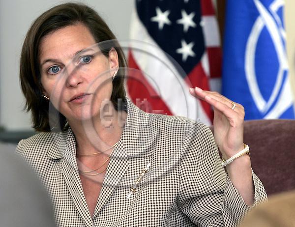 BRUSSELS - BELGIUM - 24 APRIL 2006 -- Victoria NULAND, Permanent Representative of the United States  to the North Atlantic Treaty Organization (NATO). -- PHOTO: JUHA ROININEN / EUP-IMAGES.