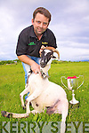 Peter Hardy from Castlecove who won the All Ireland & International Senior Sheep Shearing Championships in Portlaoise Rugby Club at the weekend.....EXTRA INFO..Sean O'Sullivan from Dromid won the Hand shearing in Portlaoise..Paddy Cronin was Peter Hardy's first mentor.  Peter started @ 13 was on hire @ 16.  Peter was one of the founders of the 'Ring of Kerry Lamb' farmers business...Sean Moriarty from Lispole Lamb Co-op introduced shearing courses in 2000?