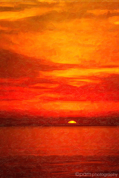 Oil interpretation of sunset