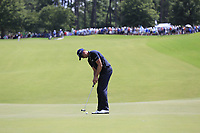 Henrik Stenson (SWE) putts on the 1st green during Saturday's Round 3 of the 2017 PGA Championship held at Quail Hollow Golf Club, Charlotte, North Carolina, USA. 12th August 2017.<br /> Picture: Eoin Clarke | Golffile<br /> <br /> <br /> All photos usage must carry mandatory copyright credit (&copy; Golffile | Eoin Clarke)