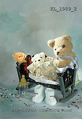 Interlitho, Alberto, CUTE ANIMALS, teddies, babies, photos, teddy, bed, blue(KL1989/2,#AC#)