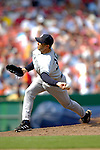 17 June 2006: Mike Myers, pitcher for the New York Yankees, on the mound against the Washington Nationals at RFK Stadium, in Washington, DC. The Nationals overcame a seven run deficit to win 11-9 in the second game of the interleague series...Mandatory Photo Credit: Ed Wolfstein Photo...